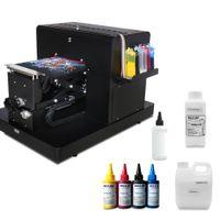 eingefärbte t-shirts großhandel-A4-Flachbettdrucker für Drucken T-Shirt Digital-DTG-Drucker für Textil T-Shirt Druckmaschine mit Textilfarbe