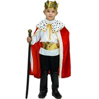 Wholesale costumes king prince resale online - kids Prince Costume for Children Halloween Cosplay The King Costumes Children s Day Boys Fantasia European royalty clothing