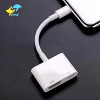 av kablo adaptörü toptan satış-8 Pin Dijital AV Adaptörü IP için HDMI Kablosu için IPX / 8/7 iPad HDMI Adaptör Kablosu HD Ses Video Adaptörü