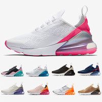 buenas zapatillas para correr al por mayor-Nike air max 270 shoes Cheap women Running shoes White pink Mowabb Washed Coral Space Purple Training Outdoor Sports womens Trainers Zapatos Sneakers