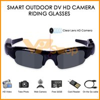 Wholesale sunglasses hd recorder resale online - Digital Camera Sunglasses HD Glasses Eyewear DVR Video Recorder IN Sunglasses UV400 Outdoor Sports Fishing Smart Cycling Riding Glasses