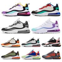 sıcak atletizm toptan satış-Nike Air Max 270 React Kadın Erkek Koşu Ayakkabıları tepki BAUHAUS OPTIK HYPER JADE Pembe Parlak Menekşe Erkek Eğitmenler Atletik Açık Spor Sneakers 36-45