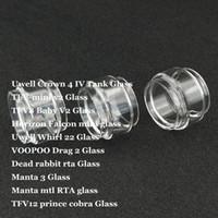 трубчатый кролик оптовых-Жирная Замена лампы стеклянная трубка для короны 4 вихрь 22 TFV-mini TFV8 Baby V2 Falcon mini Drag 2 Dead Rabbit RTA Prince Cobra DHL