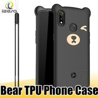 Wholesale new branded mobiles resale online - Soft Mobile Phone Case Falling Prevent Phone Cover Cute Bear New fashion Cellphone Shell for iPhone XS Max XR Samsung Note S10e