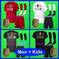 futbol kaleci takımları toptan satış-2019 2020 player version Maillots de football shirts FOURTH 4TH soccer jerseys camisa de camisetas de futball kids kit