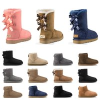 Wholesale dropshipping for shoes for sale - Group buy Hot sale Designer Australia women classic snow boots ankle short bow fur boot for winter women winter shoes size dropshipping