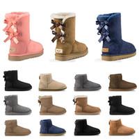 botas de piel mujer venta al por mayor-Venta caliente Diseñador Australia mujeres botas de nieve clásicas tobillo arco corto bota de piel para las mujeres de invierno zapatos de invierno tamaño 36-41 dropshipping