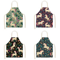 Wholesale sleeveless aprons for sale - Group buy Unicorn Apron Multi Colors Pinafore Polyester Fiber Prevent Stain Non Fading Easy Clean Sleeveless Daidle Hot Selling my L1