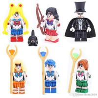 Wholesale sailor toys resale online - Popular Kitoz Sailor Moon Jupiter Mars Venus Chiba Mercury Mamoru Mini Toy for Girl