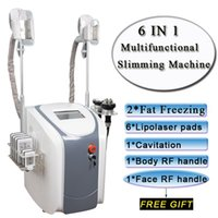 Wholesale rf lipo machine resale online - fat freezing machine waist slimming cavitation rf machine fat reduction lipo laser freezing heads can work at the same time