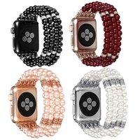 ingrosso braccialetto di perle guarda le donne-Cinghie per cinturino alla moda Apple cinturino alla moda perline elastico elasticizzato Bracciale per donna cinturino per la serie iWatch 4/3/2/1
