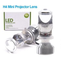 Wholesale projector kits for headlights resale online - G6 inch H4 LED Mini Projector Lens For Car H4 Motorcycle HS1 High Low Beam LED Conversion Kit Lamp Headlight V24V K