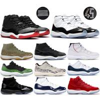 tênis de basquete aaa qualidade venda por atacado-Nike air jordon retro Concord 45 11s basquete masculino Shoes Serpente Marinha Low Light óssea rosa Platinum Tint Space Jam 11 Designer Esporte Formador
