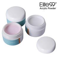 çivi beyaz tozu toptan satış-Elite99 Profesyonel Akrilik Toz Kristal Nail Art İpucu Builder Şeffaf Toz Kristal Sıvı Manikür Pembe Beyaz Temizle 15g