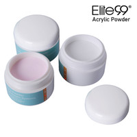 cristais transparentes brancos venda por atacado-Elite99 Profissional Acrílico Cristal Nail Art Tip Builder Cristal Transparente Manicure Líquido Rosa Branco Claro 15g