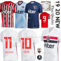 jersey brasil venda por atacado-Thail NENE 19 20 Sao Paulo Jersey away red Soccer 2019 2020 ARBOLEDA REINALDO Brazil Club black Casa camisa de futebol DIEGO