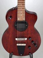 ingrosso corpo della chitarra elettrica dell'acero-Rare Rick Turner Modello 1-C-LB Lindsey Buckingham Burgundy Brown Chitarra elettrica semi-cavo Black Binding corpo, 5 pezzi Acero laminato collo