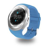 nano saatler toptan satış-Android İçin 696 Y1 Akıllı İzle Destek Nano SIM Kart ve TF Kart Smartwatch PK KW18 K88H GT88 Giyilebilir Akıllı Elektronik Stok