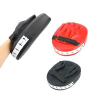 Wholesale punching training bags resale online - 1 Sanda Boxing Gloves Mat Hand Target Target Mat Muay Thai Kit Black Karate Training Gloves Key Boxing Sanda Bag