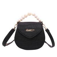 exquisite damen handtaschen groihandel-Frauen Serpentine Leder Umhängetaschen Griff Taschen Perlen exquisite Mädchen lässig ursprüngliche Handtasche elegante Damen Schulter