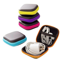 Wholesale blue purse shoes for sale - Group buy EVA Earphone Wire Box Without Earphone Data Line Cables Storage Box For Jewelry Container Organizer Coin Purse