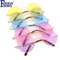 gespiegelte rosa gerahmte sonnenbrille großhandel-Sonnenbrillen für Frauen Neue Marke Designer Männer Sonnenbrille Runde Rahmen Oculos de sol Rosa Spiegel Brille Lunette De Soleil Femme