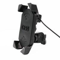 bisikletler için cep telefonu tutucuları toptan satış-Motosiklet Şarj Gidon Bisiklet Cep Cep Telefonu Montaj Tutucu Destek Bisiklet Silikon için 3.5-7