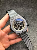 herren luxus uhren verkauf großhandel-2019 neue Top-Verkauf Qualität Uhren Männer Luxus Sportuhr Alle Zifferblatt Arbeit Automatische Mens Designer mechanische Armbanduhr Orologio di Lusso