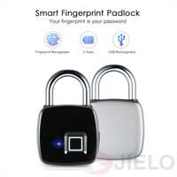 ingrosso blocco delle impronte digitali-Blocco impronte digitali Z1 USB ricaricabile Smart Keyless Guard IP65 Impermeabile Antifurto Sicurezza Lucchetto Porta bagagli Bagaglio all'ingrosso