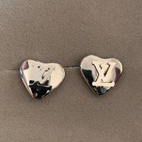 boucles d'oreilles en acier inoxydable achat en gros de-2019 Marque de mode Boucles d'oreilles 18 carats en argent or rose coeur en acier inoxydable Coeur amour classique pour les femmes couple bijoux cadeau