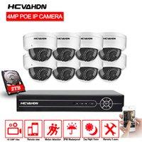 poe système de sécurité à domicile achat en gros de-HCVAHDN AHD 5MP 8CH POE CCTV Système de caméra Kit Extérieur Extérieur Étanche Vision Nocturne POE Caméra IP Système de Sécurité À Domicile Vidéo Système