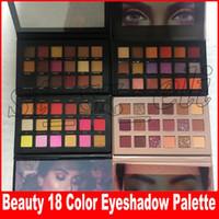multi-augen-schatten großhandel-Beauty Brand Makeup Lidschatten 18 Farben Lidschatten Rose Gold Remastered Texturierte Lidschatten-Palette Matte Shimmer New Nude Shadows