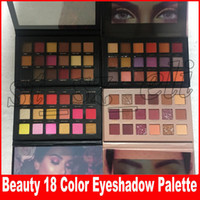 sombra de beleza venda por atacado-Beleza Marca Maquiagem Sombra 18 Cores da Sombra de Ouro Rosa Remasterizado Texturizado Sombra de Olho Paleta Matte Shimmer Novas Sombras Nuas