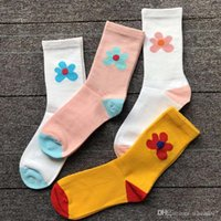 южнокорейские носки оптовых-Цветочек носки четыре цвета цветы южнокорейский Хен я стиль весна и лето скейтборд улица тенденция носки в трубке носки Женские ИНС прилив