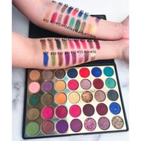 ingrosso trucco etichetta-2019 più recente No Label Cosmetics Makeup ombretto palette 35 colori Matte e Shimmer palette di ombretti Make Up palette di ombretti