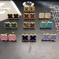 Wholesale gold black onyx for sale - Group buy 1 CM Mini flower brass material top quality flower with nature stone stud earring for women wedding gift jewelry PS8607