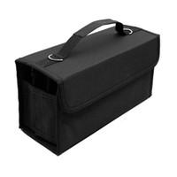 ingrosso caso di trasporto della penna-80 Slot di grande capacità pieghevole Marker Pen Case Art Markers Pen Storage Carrying Bag Durable Sketch Tools Organizer
