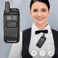 Wholesale professional handheld walkie talkie for sale - Group buy 2019 mAh W Mini Slim Micro Walkie Talkie Wireless Professional Handheld Beauty Salon Interphone Transceiver Walkie talkie