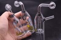 ingrosso divertente olio rig-Protable Creative Funny mini piattaforma petrolifera Bong Glass smussa fumare Oil Dab Rig water pipe