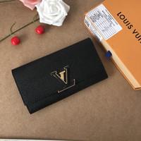 bolsas de couro usadas venda por atacado-Em espécie tiro, carteira de bolsa de luxo, fino acabamento, fornecimento especial no exterior, usando couro importado, Ou marca dente senhoras walle longo