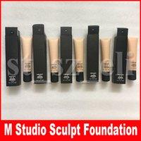 gesicht skulptur make-up großhandel-M Gesicht Make-up STUDIO Foundation SCULPT Flüssiger Concealer 40ml Matte Natürliche Concealer Foundation FOND DE TEINT