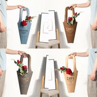 materiais de flores de papel venda por atacado-Gilding Hand Held Wrap Bag Flores Em Vasos De Plantas Embrulho Saco De Material De Papel Evitar Sacos De Embalagem De Flores De Água 3 1xm L1
