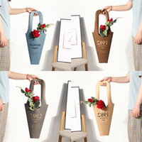 Wholesale flowers wrap resale online - Gilding Hand Held Wrap Bag Flowers Potted Plant Wraps Sack Paper Material Prevent Water Flower Packing Sacks xm L1