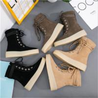weiße diamantaufladungen ferse großhandel-weibliche Schuhe Frühling und Herbst Diamond Heel Fall Stiefel High Heels Wedges Plattform Black White Damen Stiefel