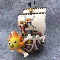 ein stück boot modell großhandel-One Piece Animation Tausend Sunny Boat Piratenschiff Modell PVC Action Figure 21CM