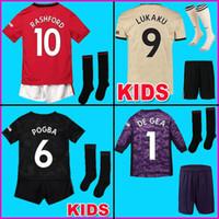 fred jersey venda por atacado-18 19 FC Manchester United Camisa de Futebol 2018 2019 Camisas MAN UTD POGBA LUKAKU RASHFORD ALEXIS FRED camisa de futebol crianças kit meninos conjuntos uniformes