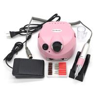 Wholesale pro tools nail file machine for sale - Group buy 110 V RPM Pro Electric Nail Drill File Bit Machine Manicure Kit Pro Salon Home Nail Tools Set