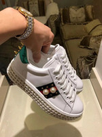 Wholesale diamond rhinestones shoes resale online - Ting2594 Platform With Diamonds And Sneakers Sneakers Dress Shoes Skate Dance Ballerina Flats Loafers Espadrilles Wedges