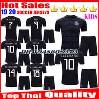 uniforme de bebe de futbol al por mayor-Kids Gold Cup 2019 2020 Camisetas Mexico 19 20 Camiseta de fútbol para niños bebés CHICHARITO LOZANO MARQUEZ DOS SANTOS uniformes camiseta de fútbol