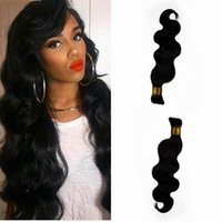 Wholesale unprocessed peruvian braiding hair online - Best Selling Products Unprocessed Natural Color Body Wave Bulk Hair For Braiding Hair inch No Tangle No Shedding G EASY